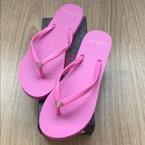 c43c0bb26c3a8a Tory Burch Magnolia Rose flip flop solid thin 10